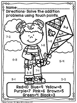 Touch Point Worksheet Spring by Calling All Ducklings