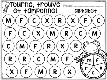 FRENCH Spring Math and Literacy Dab It Activities (le