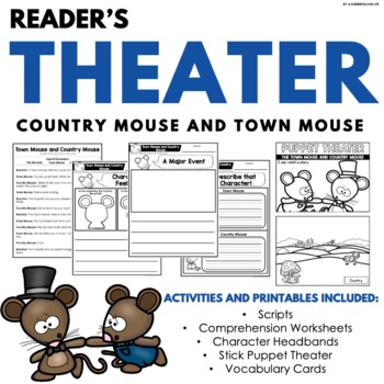 Town Mouse and Country Mouse Reader's Theater by A
