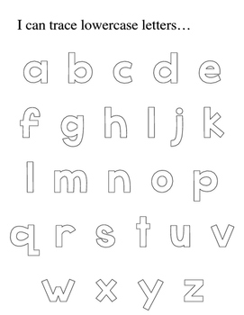 Trace Capital and Lowercase Alphabet Letters by