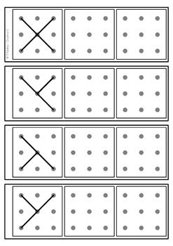 Dot To Dot Copy Practice 3x3 Design