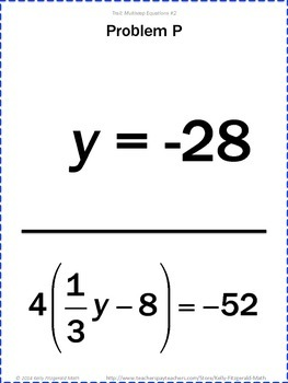 Trail: Multistep Equations Set of 3 (Combining Like Terms
