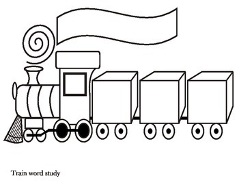 Train Word Study Worksheet for word work by Mary Heishman