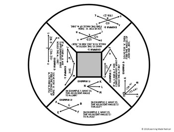 Angle Relationships Interactive Notes Activity by Learning