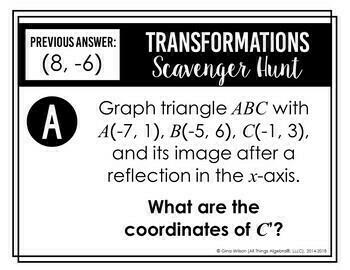 Transformations (Reflections, Translations, Rotations