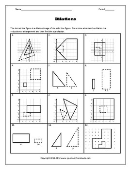 Transformations Worksheet Bundle By Funsheets4math