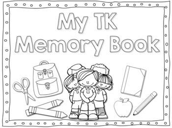Transitional Kindergarten/ TK Memory Book by Kinder League