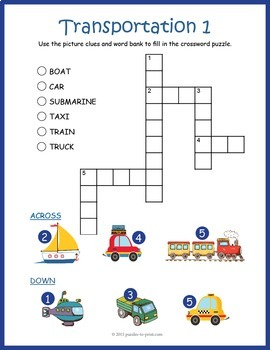 Transportation Words Puzzle Pack By Puzzles To Print TpT