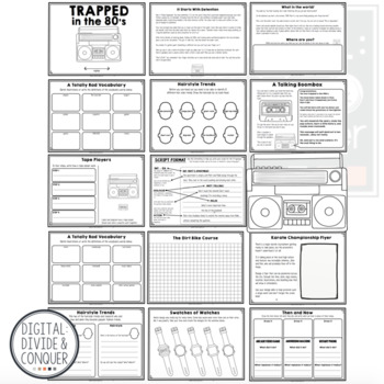 Trapped In The 80's, A Project Based Learning Activity