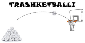 Trashketball Review Game Template. Fun GIFs! Any Subject