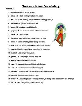 treasure island vocabulary words