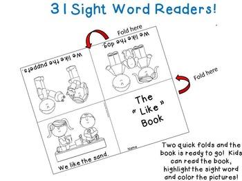Treasures Kindergarten Sight Word Readers and Pocket Chart