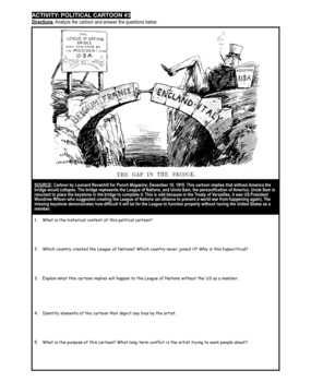 Treaty of Versailles: Political Cartoon Analysis by