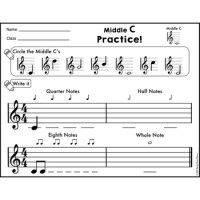 Treble Staff Notes Practice for Piano and Xylophone by ...