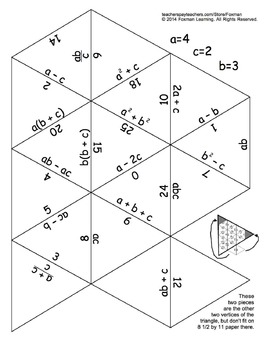 5 Triangle Puzzles for Middle School Math Expressions
