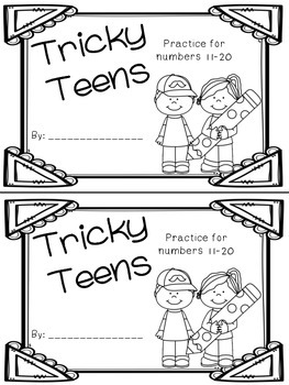 Tricky Teen Numbers Book: Practice for numbers 11-20 by