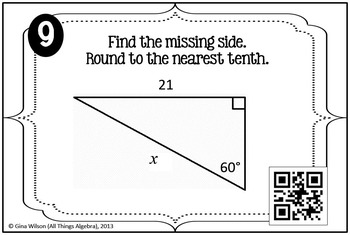 Right Triangle Trigonometry Task Cards by All Things