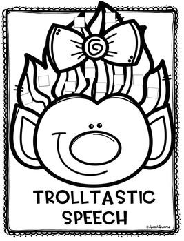 Silly Troll Hair Speech Craft: Speech Language Therapy