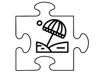 Tropical Summer Kindergarten Art Activity Beach Jigsaw