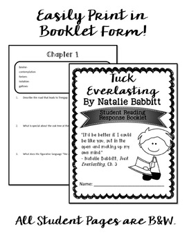 Tuck Everlasting Printable Student Booklet by Performing