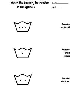 Machine wash warm, cold, hot matching symbols by Rachel
