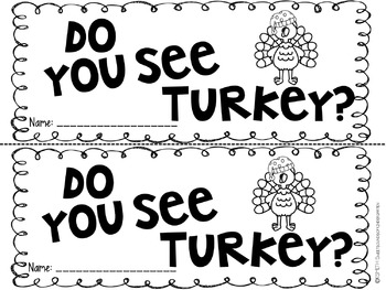 Turkey Claus! Literacy Activities by Sweet Sounds of