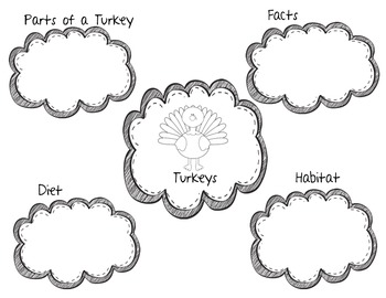 Turkey Non-Fiction Research Interactive Brochure! Great