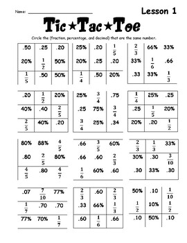 Turning Fractions and Percents to Decimals by Out of My