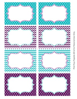 turquoise and purple theme