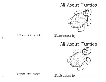 Turtle Writing (graphic organizers, papers, easy reader