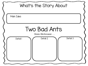 Two Bad Ants by Chris Van Allsburg ~ 42 pgs Common Core