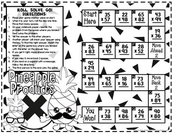 Two Digit Multiplication: GAME: 4th Grade 4.NBT.B.5 by