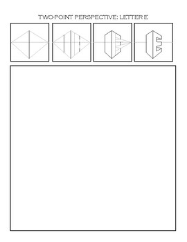 2 Point Perspective Letters : point, perspective, letters, Two-Point, Perspective, Worksheet:, Letter, Pedersen, Artist