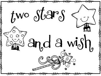 Two Stars and a Wish- Poster and Worksheet by The Price of