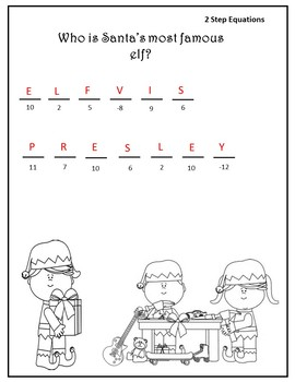 Algebra Christmas {Two Step Equations Christmas}{Pre