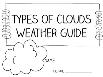 Types of Clouds Weather Log Packet ~ Great for Weather
