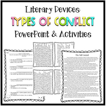 Types of Conflict PowerPoint and Activities, Literary