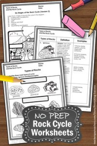 Rock Cycle Worksheets, Earth Science Centers, Types of ...