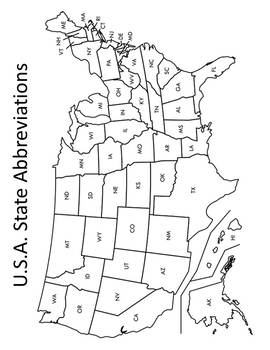 State Abbreviations Activities & Assessments State