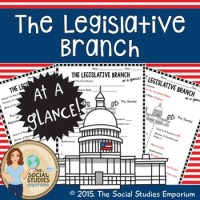U.S. Government Legislative Branch at a Glance Worksheet | TpT
