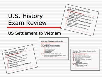 U.S. History Final Exam Review Ppt Settlement through