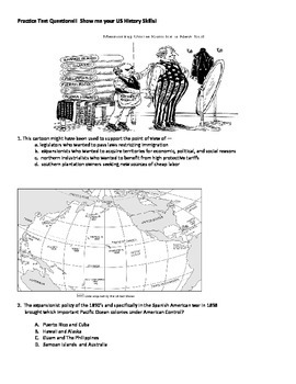 U.S. Imperialism Political Cartoon Worksheet by Set's