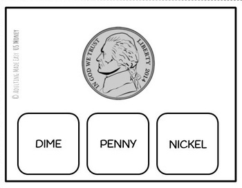 US Money Names and Values Task Cards by Adulting Made Easy