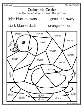 Ugly Duckling Activities and Emergent Reader Fairy Tales