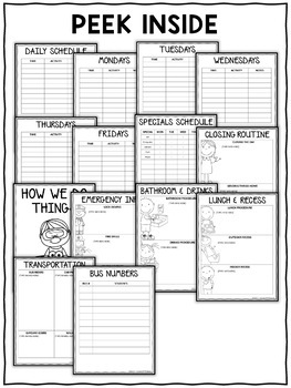 Editable Substitute Binder Templates by Nicole and Eliceo