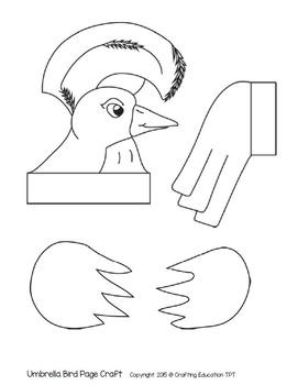 Umbrella Bird and Letter