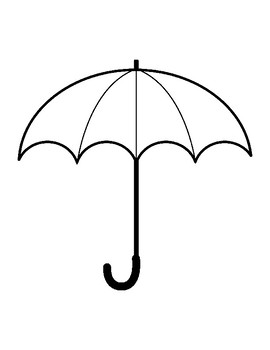 Umbrella Template for Art Project Umbrella Coloring Page