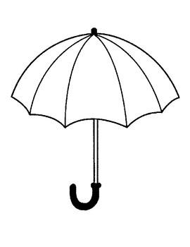 Umbrella Template for Art Project Umbrella Coloring Page
