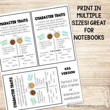 Understanding Character Traits Anchor Chart by Teachers