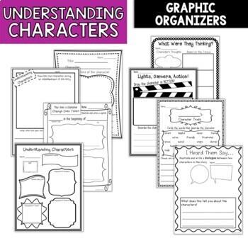 Understanding Character Traits Graphic Organizers